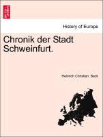 Chronik Der Stadt Schweinfurt