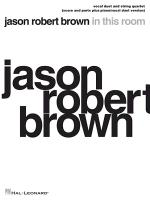 Jason Robert Brown - In This Room: Vocal Duet and String Quartet Plus Piano/Vocal Duet Version Score and Parts