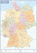 Politische Karte Deutschland