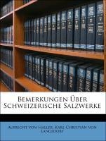 Bemerkungen Über Schweizerische Salzwerke