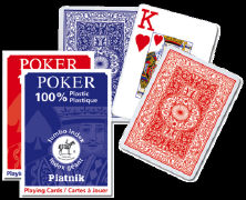 Poker Spielkarten. Plastic. Jumbo Index