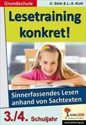 Lesetraining konkret! / 3.-4. Schuljahr