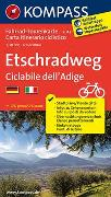 Fahrrad-Tourenkarte Etschradweg - Ciclabile dell'Adige