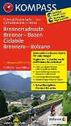 Fahrrad-Tourenkarte Brennerradroute Brenner - Bozen - ciclabile Brennero - Bolzano
