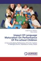 Impact Of Language Maturation On Performance Of Pre-school Children