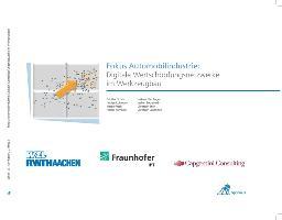 Fokus Automobilindustrie: Digitale Wertschöpfungsnetzwerke im Werkzeugbau
