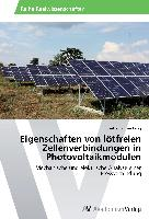Eigenschaften von lötfreien Zellenverbindungen in Photovoltaikmodulen