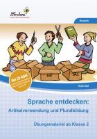 Sprache entdecken: Artikelverwendung und Pluralbildung (Set)