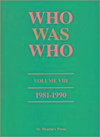 Who Was Who, Volume VIII, 1981-1990