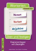 Wortarten üben und festigen 2./3. Klasse. Nomen - Verben - Adjektive. Kopiervorlagen mit Lösungen