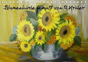 Blumenkörbe gemalt von Rosemarie Kröber (Tischkalender 2017 DIN A5 quer)