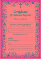 Certificate of Christian Baptism