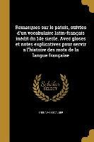 FRE-REMARQUES SUR LE PATOIS SU