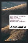 Achtundzwanzigster Bericht der Oberhessischen Gesellschaft für Natur- und Heilkunde
