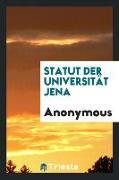 Statut der Universität Jena