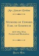 Memoirs of Edward Earl of Sandwich