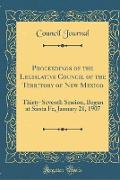 Proceedings of the Legislative Council of the Territory of New Mexico