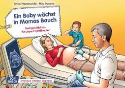 Ein Baby wächst in Mamas Bauch. Kamishibai Bildkartenset