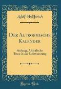 Der Altroemische Kalender