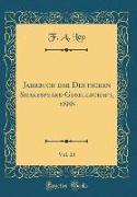 Jahrbuch der Deutschen Shakespeare-Gesellschaft, 1888, Vol. 23 (Classic Reprint)