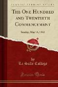 The One Hundred and Twentieth Commencement
