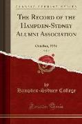 The Record of the Hampden-Sydney Alumni Association, Vol. 9