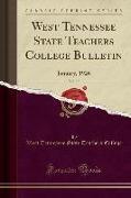 West Tennessee State Teachers College Bulletin, Vol. 15