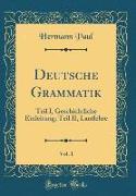Deutsche Grammatik, Vol. 1