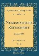 Numismatische Zeitschrift, Vol. 13