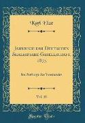 Jahrbuch der Deutschen Shakespeare-Gesellschaft, 1875, Vol. 10
