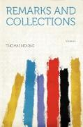 Remarks and Collections Volume 1