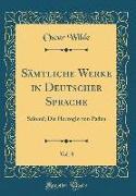 Sämtliche Werke in Deutscher Sprache, Vol. 8