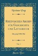 Rheinisches Archiv für Geschichte und Litteratur, Vol. 5