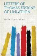 Letters of Thomas Erskine of Linlathen