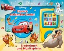 Unsere schönsten Lieder - Liederbuch und Musikspieler - Disney-Pappbilderbuch mit 15 beliebten Kinderliedern