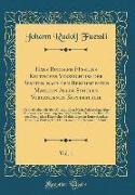 Hans Rudolph F¿¿ins Kritisches Verzeichniss der Be¿en, nach den Ber¿hmtesten Mahlern Aller Schulen Vorhandenen Kupferstiche, Vol. 1