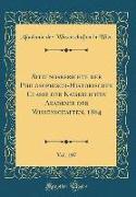 Sitzungsberichte der Philosophisch-Historischen Classe der Kaiserlichen Akademie der Wissenschaften, 1884, Vol. 107 (Classic Reprint)