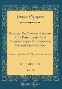 Recueil De Travaux Relatifs A La Philologie Et A L'archéologie Égyptiennes Et Assyriennes, 1899, Vol. 21
