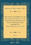 Register Zu Den Bänden 71 Bis 80 Der Sitzungsberichte Der Philosophisch-Historischen Classe Der Kaiserlichen Akademie de Wissenschaftlichen, 1878, Vol