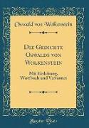 Die Gedichte Oswalds von Wolkenstein