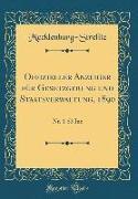 Offizieller Anzeiger Für Gesetzgebung Und Staatsverwaltung, 1890: Nr. 1-53 Inc (Classic Reprint)