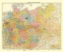 Historische Übersichtskarte: DEUTSCHES REICH - VERKEHRSKARTE - November 1942