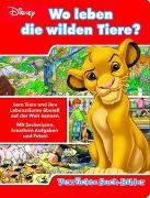 Wo leben die wilden Tiere? - Verrückte Such-Bilder - Disney - Wimmelbuch mit lustigen Lernspielen - Pappbilderbuch mit 18 Seiten für Kinder ab 18 Monaten