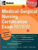 Medical-Surgical Nursing Certification Examination Review