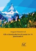 Alle schweizerischen Kurorte im 19. Jahrhundert