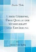 Ueber Gährung, Über Quelle der Muskelkraft und Ernährung (Classic Reprint)
