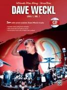 Ultimate Play-Along Drum Trax Dave Weckl, Level 1, Vol 1: Jam with Seven Stylistic Dave Weckl Tracks, Book & CD