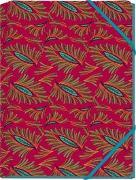 WAX Mini-Sammelmappe - Motiv Türkise Blüten