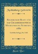 Regierungs-Blatt für das Grossherzogthum Mecklenburg-Schwerin, 1880