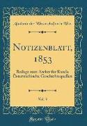 Notizenblatt, 1853, Vol. 3